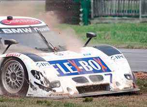 Rolex Race Car goes too fast, ends up off track