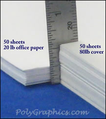 example of 80lb cover paper